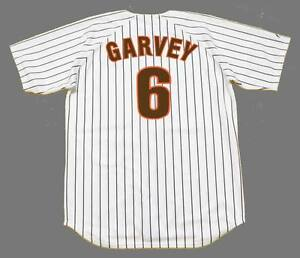 huge selection of 52a9c 90a17 Details about STEVE GARVEY San Diego Padres 1986 Majestic Cooperstown Home  Baseball Jersey