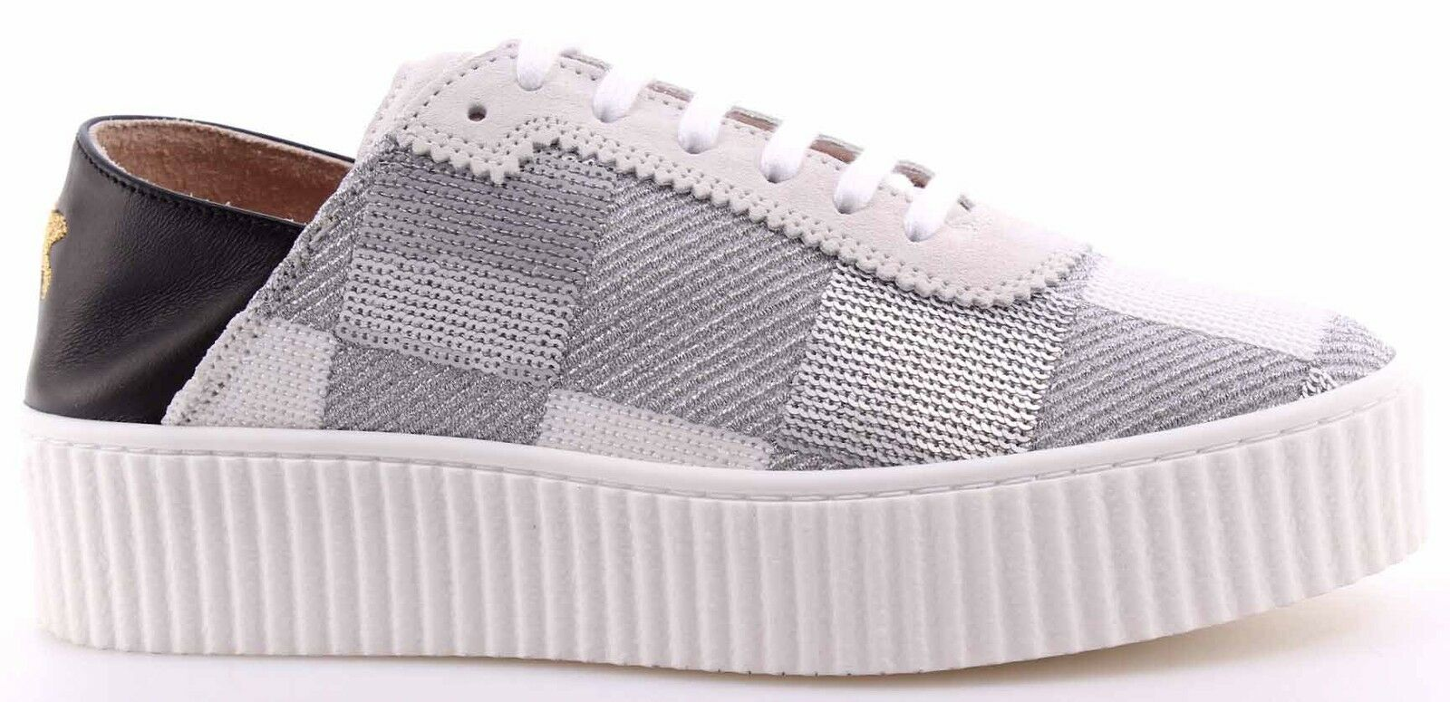 Chaussures Femme baskets roseO Shine Baby Ungherse Paillettes Bianco argent