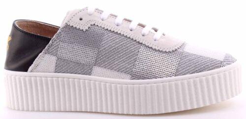 Femme Nouveau Pinko Blanc Sequins Shine Sneakers Ungherse Chaussures Bébé Argent BaqvaZ