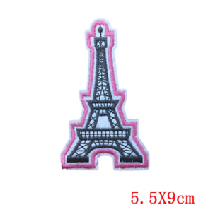 Eiffel Tower Friends Funny Iron on Embroidery Cloth Patch Sew on Badge Paris