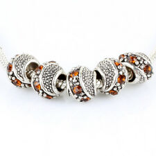 10pcs Retro Big Hole Tibetan silver CZ bead spacer For European Charm Bracelet