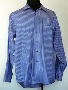 Donald-J-Trump-Signature-Collection-Blue-Striped-No-Iron-Dress-Shirt-17-5-34-35