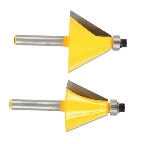 2x 1//4 /'/' Schaft 15 /& 30 ° Fasen und Facettenrandfräser 1 Zoll H
