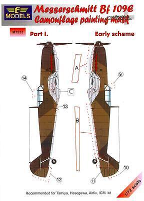 LF Models 1/72 MESSERSCHMITT Bf-109E Early Scheme Part 1 Camouflage Paint Mask