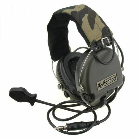 d82624b48bd AIRSOFT TOMTAC SORDIN HEADSET MIC BOOM RADIO MSA DESIGN WOODLAND / OD GREEN