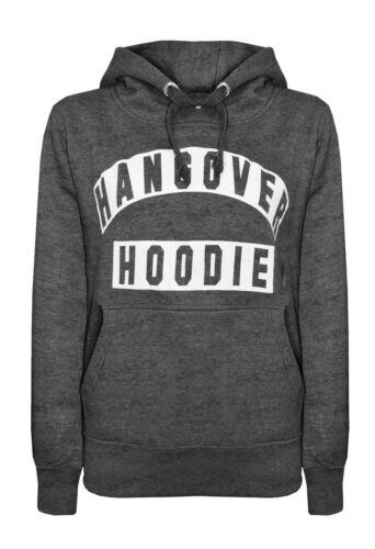 New Womens Hangover Hoodies Print Long Sleeve Ladies Top Sweatshirt