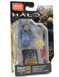 HALO Mega Construx Prophet of Peace Hero Series10 Mini Action Figure gold