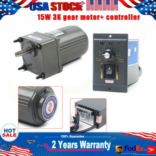 variable speed Reduction controller Reversible 15W 3K AC gear motor electric