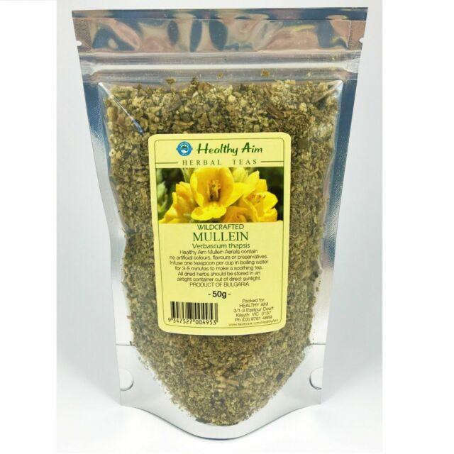 Wild Crafted MULLEIN 50g Verbascum thapsis Dried Herbal Tea Premium 100% Pure