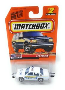 Matchbox-MBX-Superfast-1999-No-2-Ford-LTD-Police-weiss-USA-exlusiv-Modell