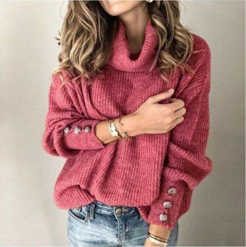 Women/'s Tops US Jumper Autumn Knitted Knitwear Long Sleeve Cardigans Sweater