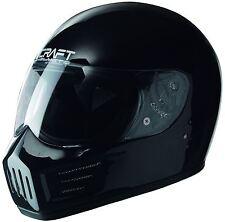 CRAFT RX6 MOTORCYCLE HELMET GLOSS BLACK 57-58 M +simpson decal STIG legal bandit