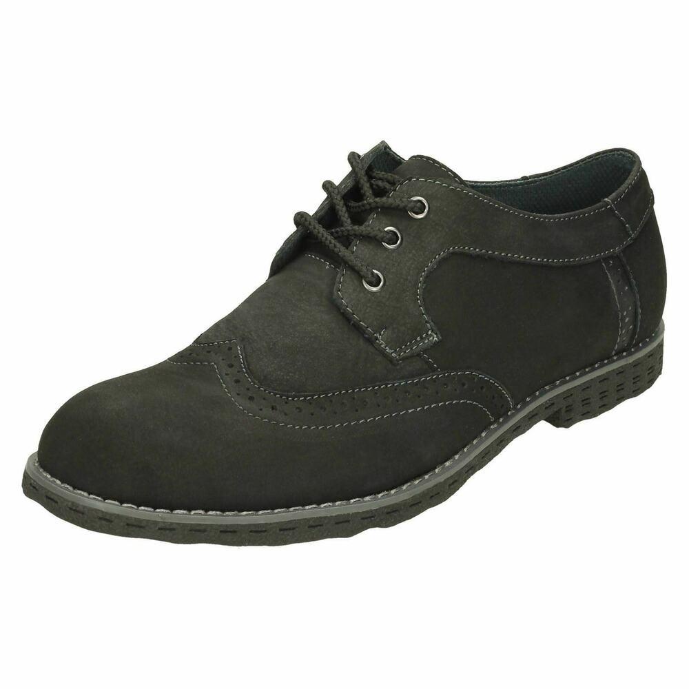 Maverick A2111 Noir Hommes Richelieu Cuir Nubuck Chaussure à Lacets (26b) ( Kett