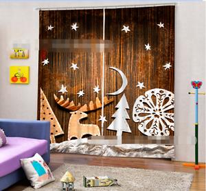 Pino blancoo 3D Cortinas de impresión de cortina de foto Blockout Tela Cortinas Ventana CA