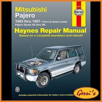 pajero collection on ebay! mitsubishi pajero evolution 68765 haynes mitsubishi pajero (1983 1997) (australian) workshop manual