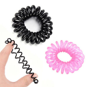 12X-Candy-Color-Elastic-Telephone-Wire-Cord-Head-Ties-Hair-Band-Rope-PonytaiF-EG