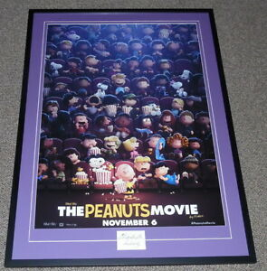 Charles-Schulz-Signed-Framed-30x41-The-Peanuts-Movie-Poster-Display-JSA-Snoopy