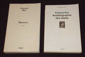 Set-of-2-Romans-of-Francois-Good-Daewoo-Autobiography-of-Items-2