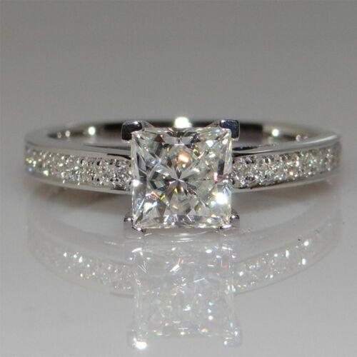 Bridal Zircon Party New Women Wedding Lady Ring Silver Plated Fashion Crystal