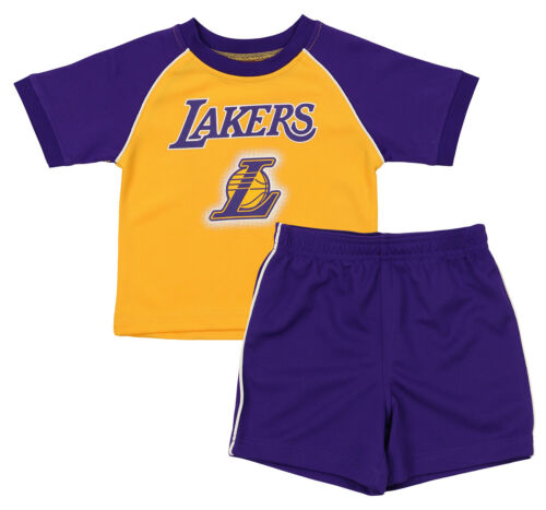 OuterStuff NBA Infant and Toddler Los Angeles Lakers Shirt and Short Set