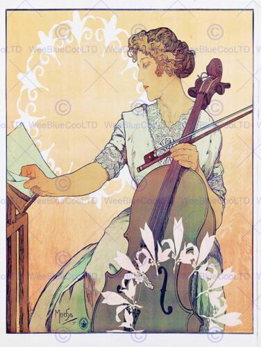 ADVERT THEATRE STAGE MUSICIAN ZDENKA CERNY NOUVEAU FRANCE POSTERPRINT BB7998B