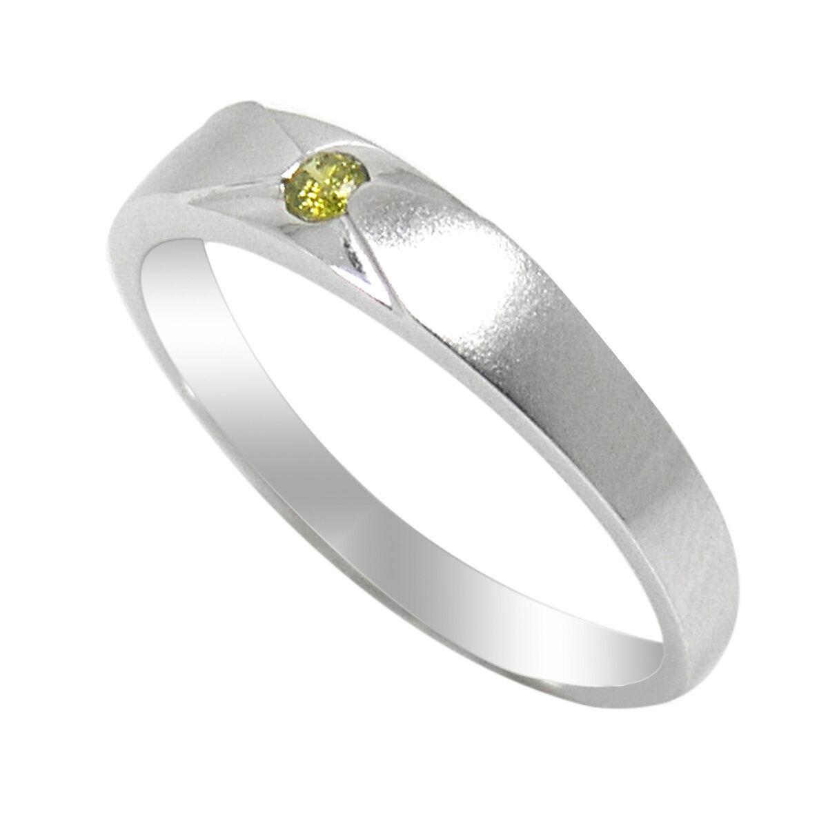 De Buman 18k White gold Diamond Solitaire Ring