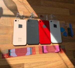 Nuevo-Repuesto-Carcasa-Iphone-8-Con-Marco-Rojo-Negro-blanco-y-oro-Champagne