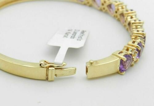 Details about  /5.50CT Heart Cut Amethyst 14K Yellow Gold Over Women/'s Bangle Bracelet For Gift