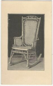 Groovy Details About 1880S Wakefield Rattan Company Rocking Chair Trade Card Pre Heywood Wakefield Ncnpc Chair Design For Home Ncnpcorg