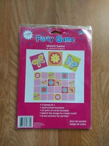 Details About Butterflies Flowers Memory Match Game Summer Girls Birthday Party Games Age 3
