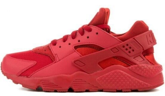 2c7ac6578e5eb Nike Mens Air Huarache Size 11 Triple Varsity Red October All Red 318429  660 for sale online