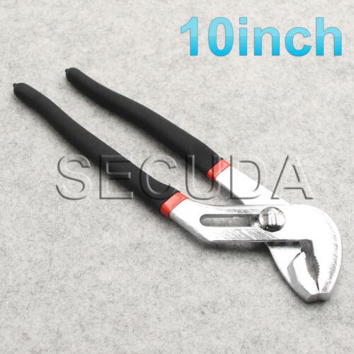 """Plumbers Slim Jaw Waterpump Pipe Wrench Pliers Grips Pump Chrome 6/"""" 8/"""" 10/"""" 12/"""""""