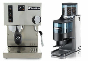 Rancilio-Silvia-V5-Machine-amp-Rocky-Doser-Grinder-Pack-Sold-By-Coffee-A-Roma