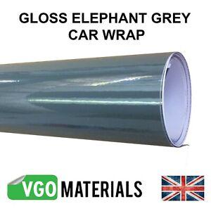 VGOltd Elephant Grey Gloss Wrap Air Release 30cmx76cm SHIPPED FLAT