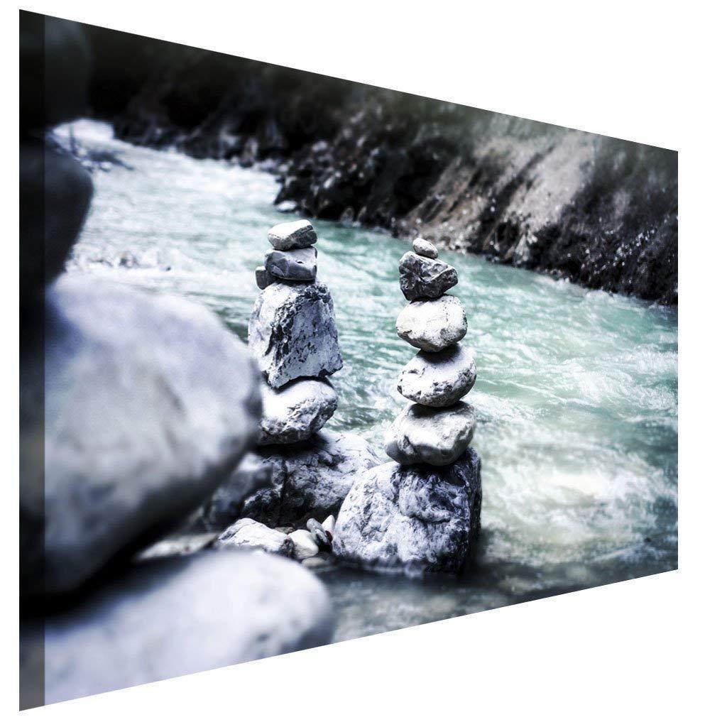 Meditation Wellness Steine Leinwandbild AK Art Bilder Wanddeko Wandbild TOP XXL