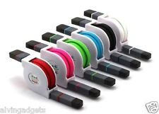 2 in 1 Retractable Micro USB/Lightning Cable For iPhone 6/5 Samsung S6/5 HTC(Blk