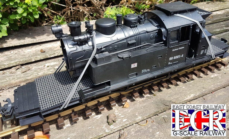 G Maßstab 45mm Anzeige Scrap Lokomotive Körper auf XL Extra Lang Flachbett