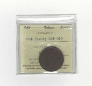 Canada-Token-PE-7C1-Breton-919-ICCS-Graded-AU-55-Self-Government-Token