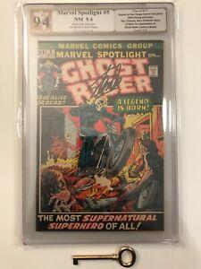 MARVEL SPOTLIGHT #5 PGX 9.4 (like CGC) Signed by Stan Lee 1st Ghost Rider! Key!
