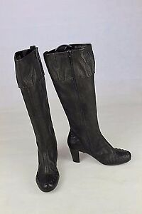 7 Leather 'nolan' Boots Calf Length Clarks Black Wider Knee Uk D p0fWnUq