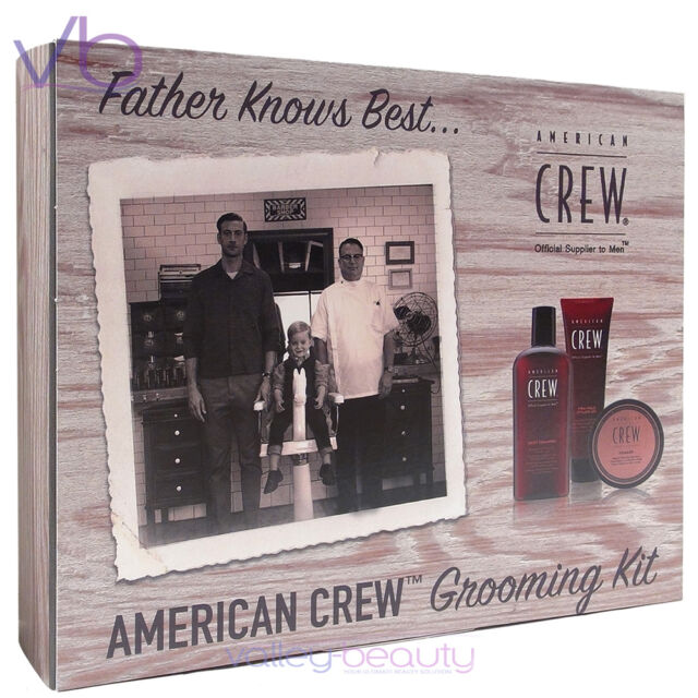 321e95b88e65 AMERICAN CREW Grooming Kit, Father's Day Gift - Shampoo, Firm Hold Gel,  Pomade