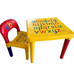 Image Is Loading Plastic Kids Table And Chairs Play Set Toddler