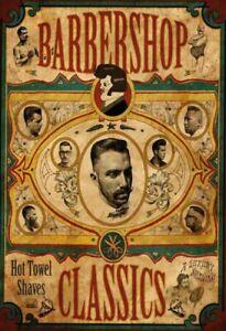 Barbershop-Classics-Blechschild-Schild-gewoelbt-Metal-Tin-Sign-20-x-30-cm
