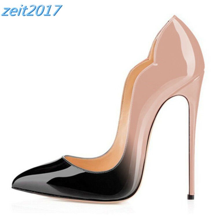 Hochzeit Pumps Damen Lackleder Sandalen Sandalen Sandalen Stiletto Heels High Heels ... 27ce11