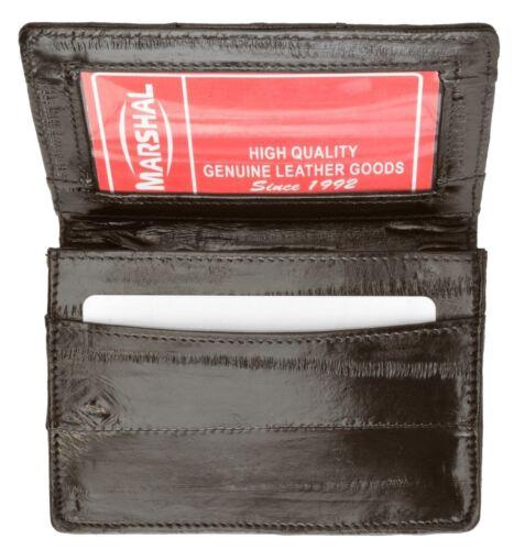 GENUINE EEL SKIN Bifold Credit Business Card id Holder Case Wallet NEW