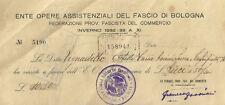 Epoca Fascismo - Ente Opere Assistenziali del Fascio di Bologna 1932