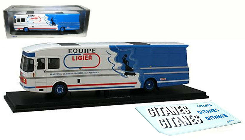 Spark S0297 Ligier Team Transporter 1975 1 43 Scale