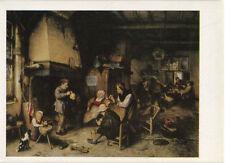 Alte Kunstpostkarte - Adriaen van Ostade - Bauerngesellschaft