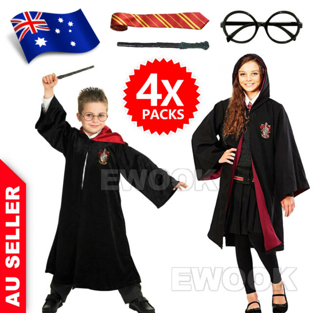 BOYS GIRLS ADULTS HARRY POTTER LICENSED DELUXE FANCY DRESS COSTUME ROBE KIDS