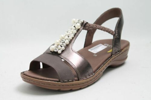Bronze Leder Ara Ara Sandale Sandale Bronze qEXIdWwxg